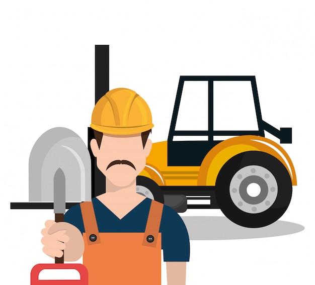 Ícone de trabalhador de construtor de construtor