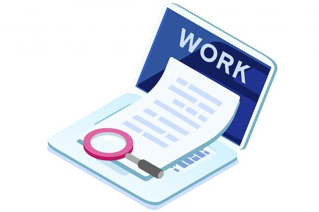 Ícone de trabalho com computador portátil