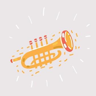 Ícone de trombeta em branco