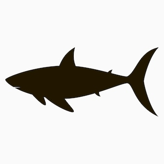 Ícone de tubarão. modelo de logotipo. ilustração vetorial.