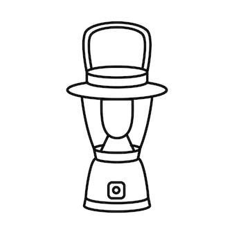 Ícone de turista lanterna. lanterna portátil. equipamento de acampamento e caminhada. ilustração