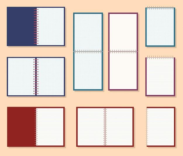 Ícone de um caderno com mola
