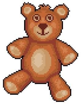 Ícone de ursinho de pelúcia pixel art para a parte do jogo