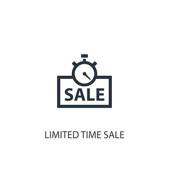 Ícone de venda por tempo limitado. ilustração de elemento simples. design de símbolo de conceito de venda por tempo limitado. pode ser usado para web e celular.