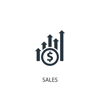 Ícone de vendas. ilustração de elemento simples. projeto de símbolo de conceito de vendas. pode ser usado para web e celular.