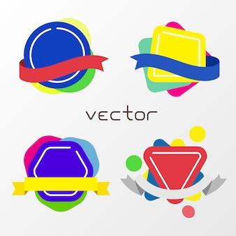 Ícone de vetor de banner tag abstrato colorido