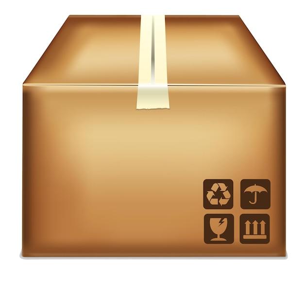 Ícone de vetor de caixa de papelão