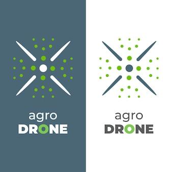 Ícone de vetor de folha de nanocóptero. o estilo é o logotipo do símbolo plano, cor verde eco, ângulos arredondados, fundo branco e verde.