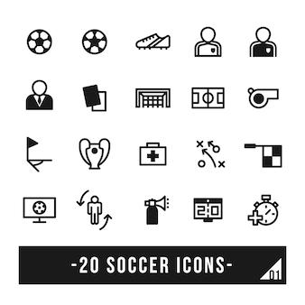 Ícone de vetor de futebol