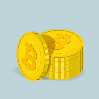Ícone de vetor de ícone de bitcoin