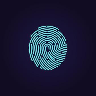 Ícone de vetor de impressão digital de app de identificação