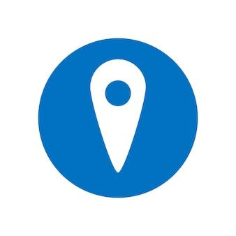 Ícone de vetor de localização. ponteiro do mapa. símbolo de localização gps. ilustração do conceito de vetor plana isolada no fundo branco