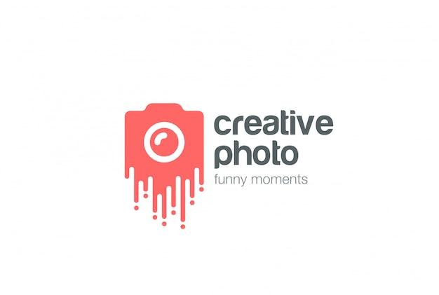 Ícone de vetor de logotipo de foto criativa.