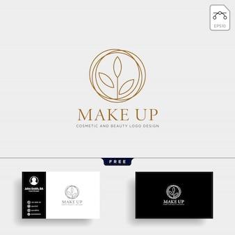 Ícone de vetor de logotipo de linha de cosméticos de beleza