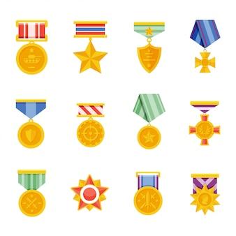 Ícone de vetor de medalhas militares