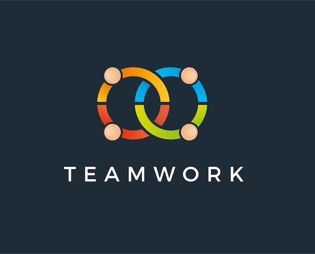 Ícone de vetor de modelo de logotipo de adoção e cuidados comunitários