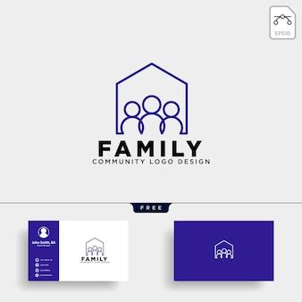 Ícone de vetor de modelo de logotipo humano comunitário isolado
