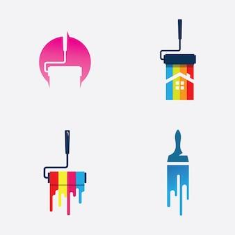Ícone de vetor de negócios de logotipo de pintura