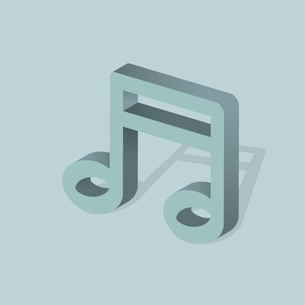 Ícone de vetor de nota de música
