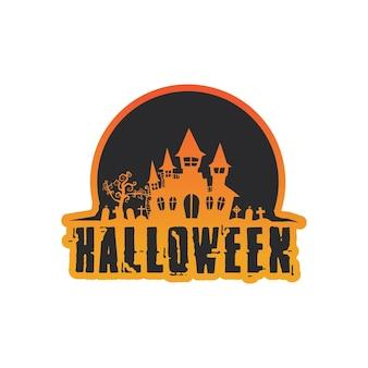 Ícone de vetor para cartão de felicitações do helloween e sinal de festa de pôster ilustração do conceito com sinal e símbolo