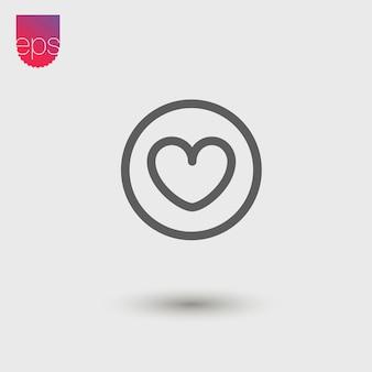 Ícone de vetor simples de coração. emblema do vetor. vector pictograma clipart