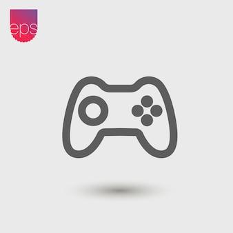Ícone de vetor simples de joystick. emblema do vetor isolado em fundo cinza. clipart de pictograma de vetor