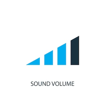 Ícone de volume de som. ilustração do elemento do logotipo. design de símbolo de volume de som de 2 coleções coloridas. conceito de volume de som simples. pode ser usado na web e no celular.
