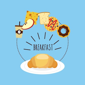 Ícone delicioso e nutritivo café da manhã