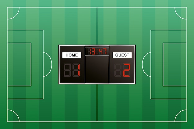 Ícone digital isolado do placar do torneio