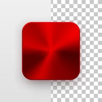 Ícone do aplicativo em branco metal vermelho