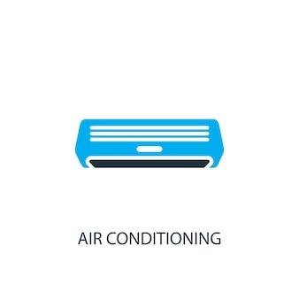 Ícone do ar condicionado. ilustração do elemento do logotipo. desenho do símbolo do ar condicionado de 2 colecções coloridas. conceito simples de ar condicionado. pode ser usado na web e no celular.