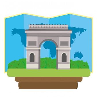 Ícone do arco do triunfo