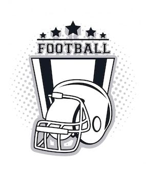 Ícone do capacete de futebol