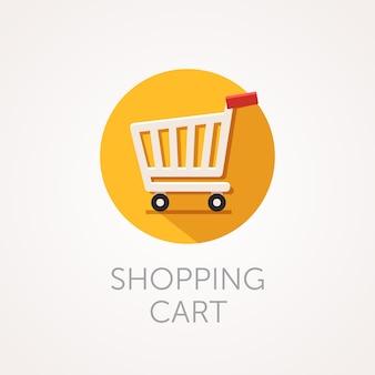 Ícone do carrinho de compras do vetor