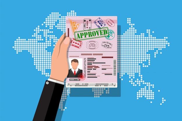 Ícone do cartão de identificação. bilhete de identidade, bilhete de identidade nacional