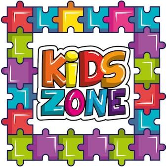 Ícone do cartaz da zona infantil