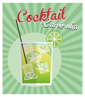 Ícone do cocktail caipirinha