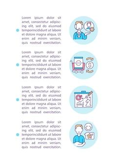 Ícone do conceito de cliente informado com texto
