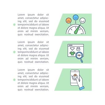 Ícone do conceito de desenvolvimento de estratégia de marketing com texto. área financeira e comercial