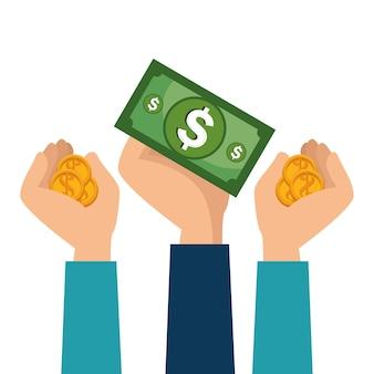 Ícone do conceito de poupança crowdfunding