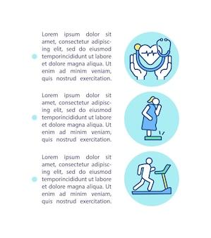 Ícone do conceito de práticas preventivas de saúde com ilustração de texto