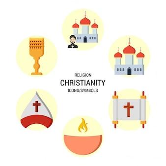 Ícone do cristianismo símbolo