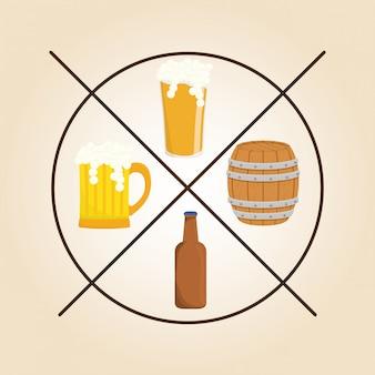 Ícone do design de cerveja