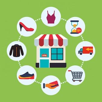 Ícone do design de compras