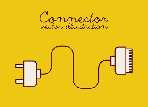 Ícone do design de conexão, gráfico de vetor ilustração eps10
