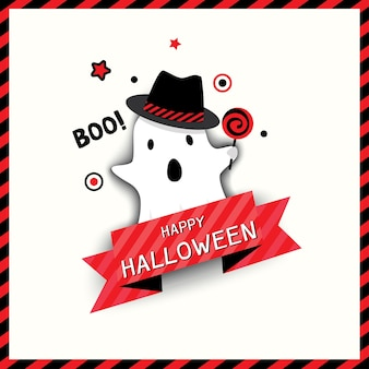 Ícone do design de halloween com monstro fantasma.
