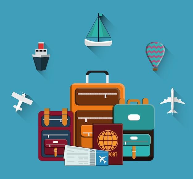 Ícone do design de viagens