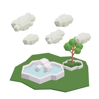 Ícone do design isométrica de parque isolado