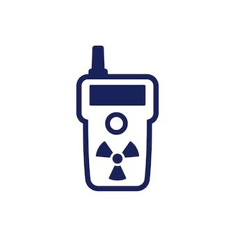 Ícone do detector de radiação em branco