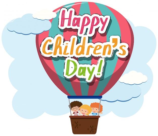 Ícone do dia das crianças felizes